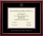 Kansas City University of Medicine and Biosciences Diploma Frame - Gold Embossed Diploma Frame in Gallery