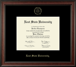 Kent State University Diploma Frame - Gold Embossed Diploma Frame in Studio