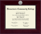 Housatonic Community College Diploma Frame - Century Silver Engraved Diploma Frame in Cordova