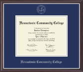 Housatonic Community College Diploma Frame - Silver Embossed Diploma Frame in Devon