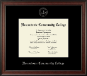 Housatonic Community College Diploma Frame - Silver Embossed Diploma Frame in Studio