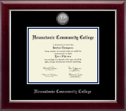 Housatonic Community College Diploma Frame - Silver Engraved Medallion Diploma Frame in Gallery Silver