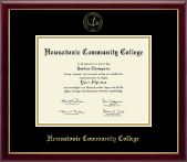 Housatonic Community College Diploma Frame - Gold Embossed Diploma Frame in Galleria