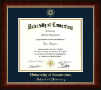 University of Connecticut Diploma Frame - Gold Embossed Diploma Frame in Murano