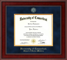 University of Connecticut School of Dental Medicine Diploma Frame - Presidential Masterpiece Diploma Frame in Jefferson