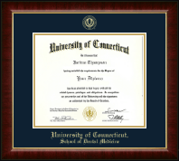 University of Connecticut School of Dental Medicine Diploma Frame - Gold Embossed Diploma Frame in Murano
