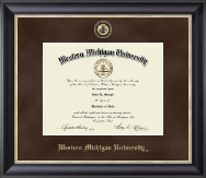 Western Michigan University Diploma Frame - Regal Edition Diploma Frame in Noir
