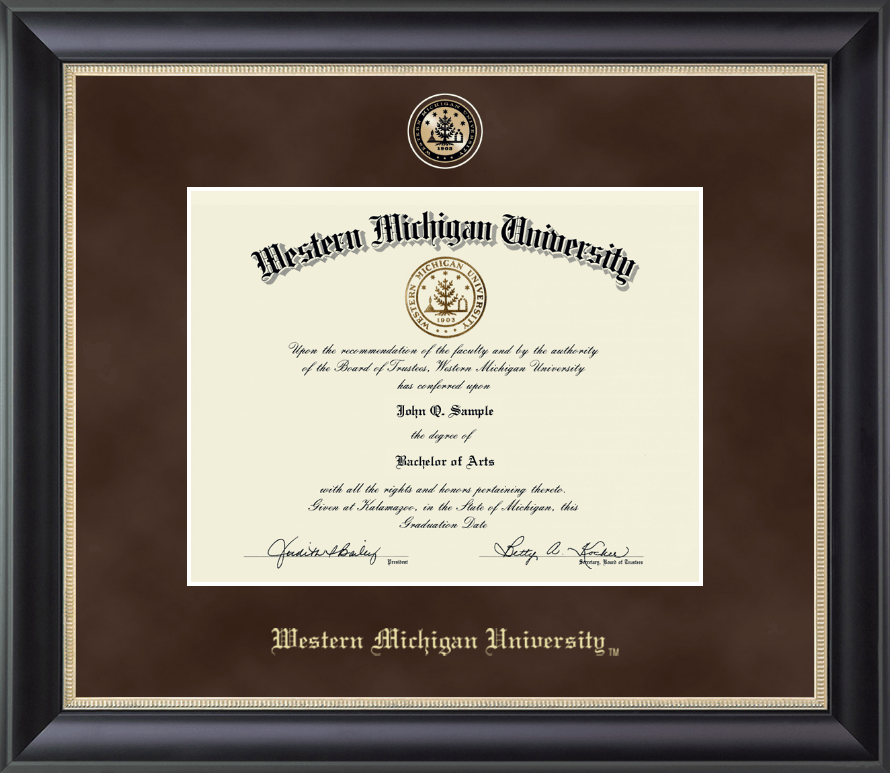 Western Michigan University Regal Edition Diploma Frame in Noir ...