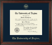 University of Dayton Diploma Frame - Gold Embossed Diploma Frame in Studio