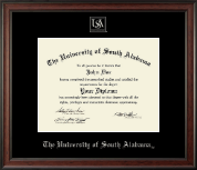 University of South Alabama Diploma Frame - Silver Embossed Diploma Frame in Studio
