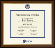 The University of Tulsa Diploma Frame - Dimensions Diploma Frame in Westwood