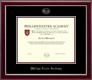 Phillips Exeter Academy Diploma Frame - Silver Embossed Diploma Frame in Gallery Silver