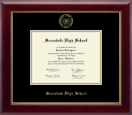 Scarsdale High School in New York Diploma Frame - Gold Embossed Diploma Frame in Gallery