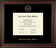 Scarsdale High School in New York Diploma Frame - Gold Embossed Diploma Frame in Studio