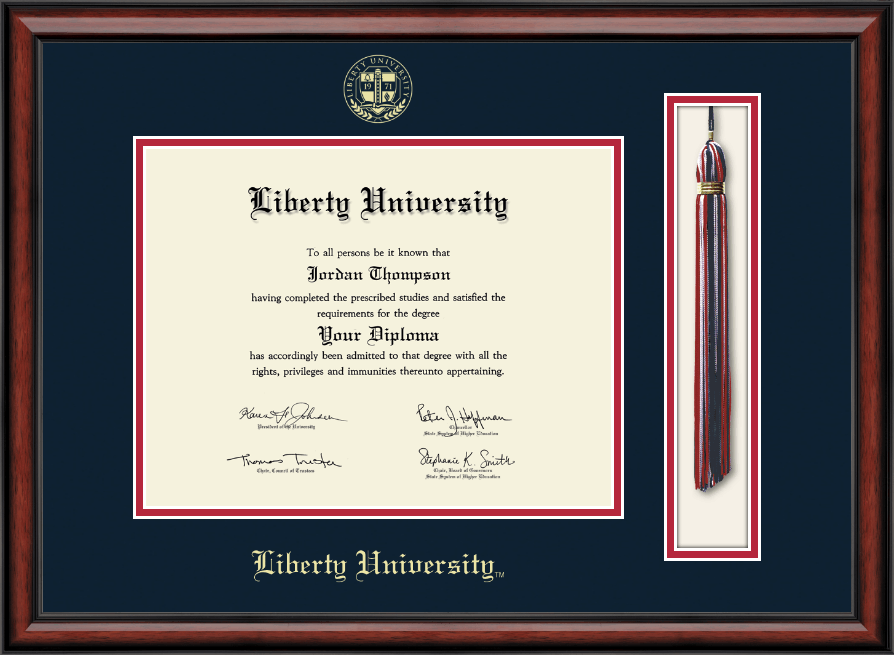 Liberty University Tassel Edition Diploma Frame In