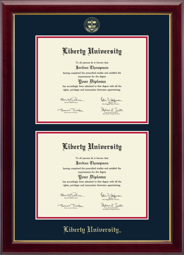 liberty university double diploma frame in gallery item 287637 from liberty university bookstore