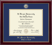 St. Mary's University Diploma Frame - Masterpiece Medallion Diploma Frame in Gallery