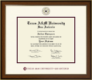 Texas A&M University at San Antonio Diploma Frame - Dimensions Diploma Frame in Westwood
