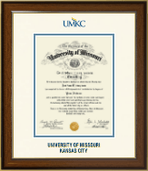 University of Missouri Kansas City Diploma Frame - Dimensions Diploma Frame in Westwood