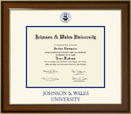 Johnson & Wales University in Rhode Island Diploma Frame - Dimensions Diploma Frame in Lancaster
