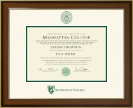 Manhattan College Diploma Frame - Dimensions Diploma Frame in Westwood