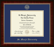 St. Mary's University Diploma Frame - Gold Embossed Diploma Frame in Murano