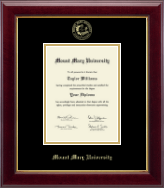 Mount Mary University Diploma Frame - Gold Embossed Diploma Frame in Gallery