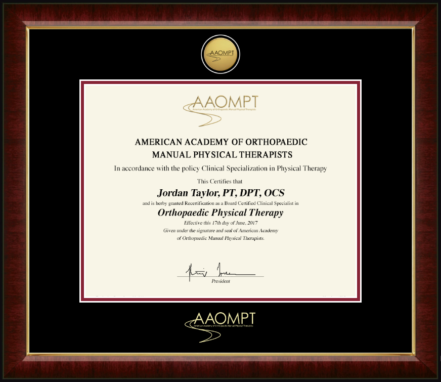 American Academy of Orthopaedic Manual Physical Therapists Gold ...