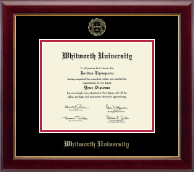 Whitworth University Diploma Frame - Gold Embossed Diploma Frame in Gallery