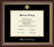 Monroe College Diploma Frame - Gold Engraved Medallion Diploma Frame in Hampshire