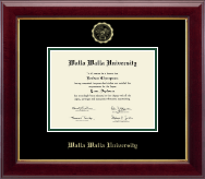 Walla Walla University Diploma Frame - Gold Embossed Diploma Frame in Gallery