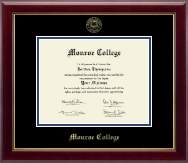 Monroe College Diploma Frame - Gold Embossed Diploma Frame in Gallery