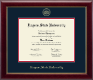 Rogers State University Diploma Frame - Gold Embossed Diploma Frame in Gallery