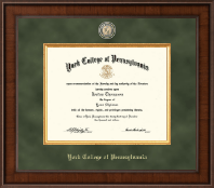 York College of Pennsylvania Diploma Frame - Presidential Masterpiece Diploma Frame in Madison