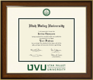 Utah Valley University Diploma Frame - Dimensions Diploma Frame in Westwood