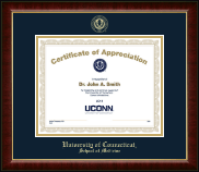 University of Connecticut School of Medicine Certificate Frame - Gold Embossed Certificate Frame in Murano