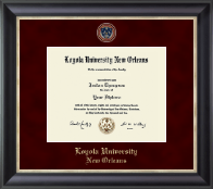Loyola University New Orleans Diploma Frame - Regal Edition Diploma Frame in Noir