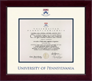 University of Pennsylvania Diploma Frame - Dimensions Diploma Frame in Cordova