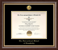 The International School of Hospitality Certificate Frame - Gold Engraved Medallion Certificate Frame in Hampshire