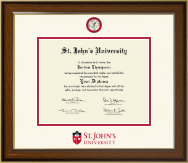 St. John's University, New York Diploma Frame - Dimensions Diploma Frame in Westwood