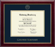 Gateway Seminary Diploma Frame - Gold Embossed Diploma Frame in Gallery
