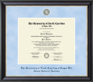 University of North Carolina Chapel Hill Diploma Frame - Regal Edition Diploma Frame in Noir