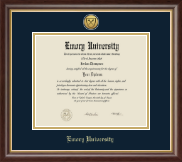 Emory Oxford College Diploma Frame - Gold Engraved Medallion Diploma Frame in Hampshire
