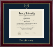 Emory Oxford College Diploma Frame - Gold Embossed Diploma Frame in Gallery