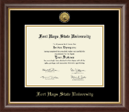 Fort Hays State University Diploma Frame - Gold Engraved Medallion Diploma Frame in Hampshire