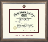 Fordham University Diploma Frame - Dimensions Diploma Frame in Easton