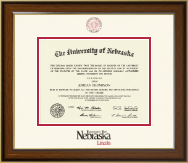 University of Nebraska Diploma Frame - Dimensions Diploma Frame in Westwood