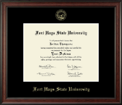 Fort Hays State University Diploma Frame - Gold Embossed Diploma Frame in Studio