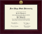 Fort Hays State University Diploma Frame - Century Gold Engraved Diploma Frame in Cordova
