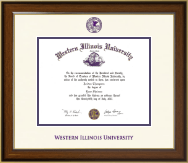 Western Illinois University Diploma Frame - Dimensions Diploma Frame in Westwood